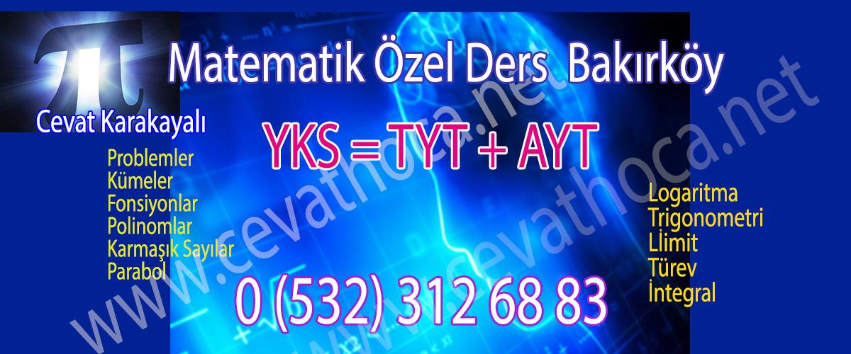 Bakırköy Matematik Özel Ders