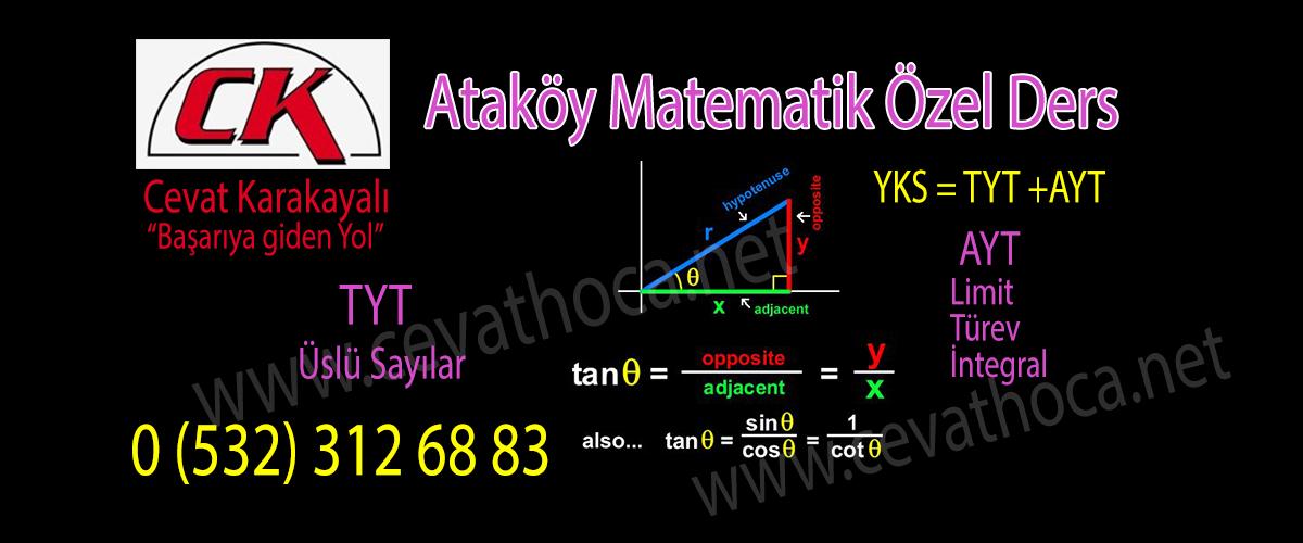Ataköy Matematik Özel Ders