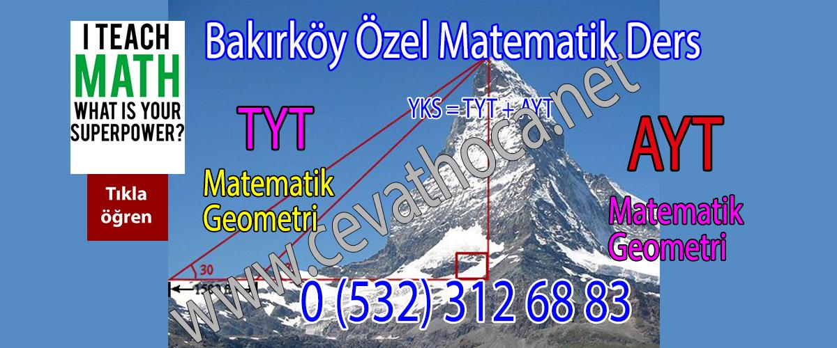 Bakırköy Özel Matematik Ders