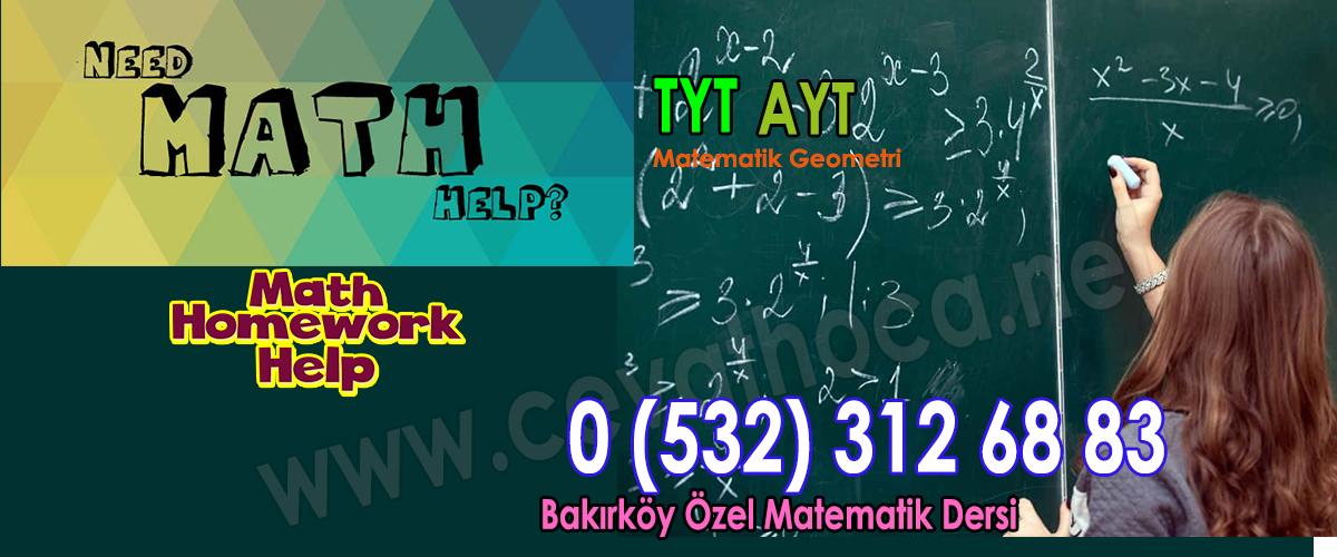 Bakırköy Özel Matematik Dersi