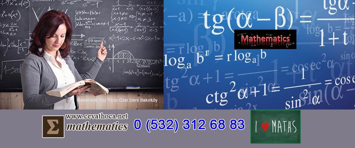 Matematik Yüz Yüze Özel Ders Bakırköy
